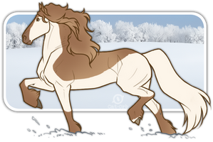 Trotting Off In Snow by Stal-HindeHei