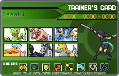 Emerald Trainer Card by InfernoKat