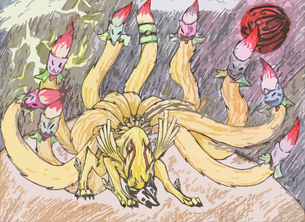 Demon Lord Ninetails by InfernoKat