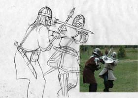 Duel Pencil sketch
