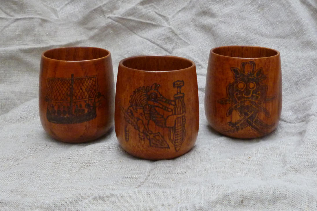 Pagan Past Mead Cups by Meredyth