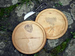 Pagan Past Wooden Plates 1 by Meredyth