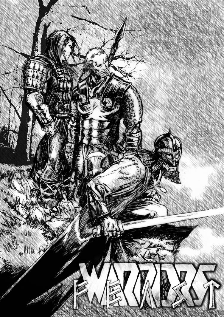 True Warriors Feast 2015 (B+W) by Meredyth