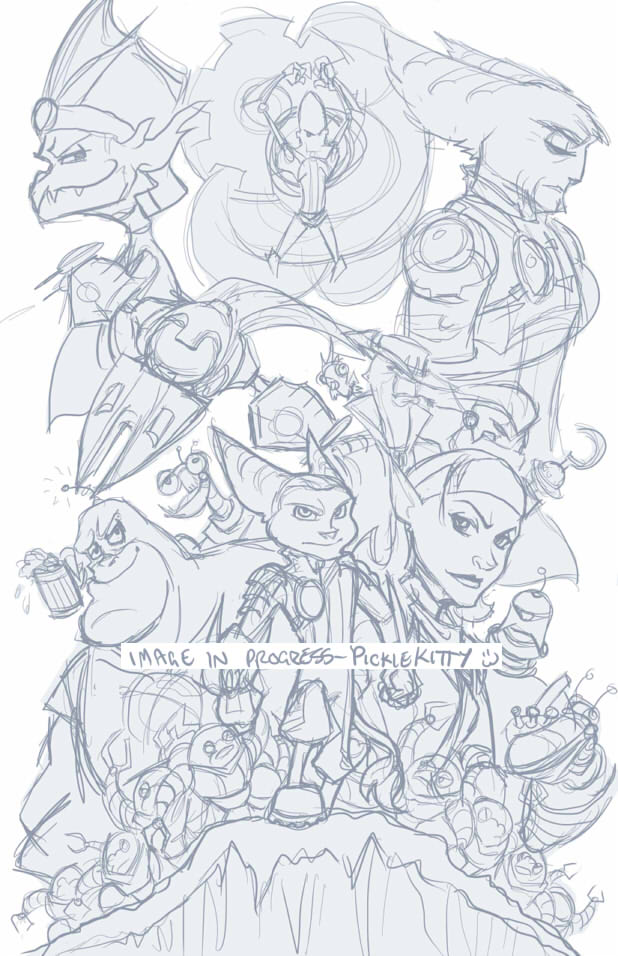 Ratchet: The Future - sketch by sarahpicklesdill