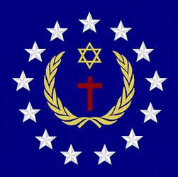 Universal Christian Flag New Canton Design