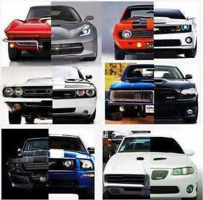 American Muscle Cars Then And Now By Stephenbarlow On Deviantart