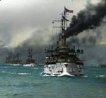 Great White Fleet entering San Francisco Bay
