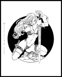 Red Sonja by wytherwing