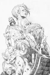 Last Shot - Cover Pencil by fwatanabe
