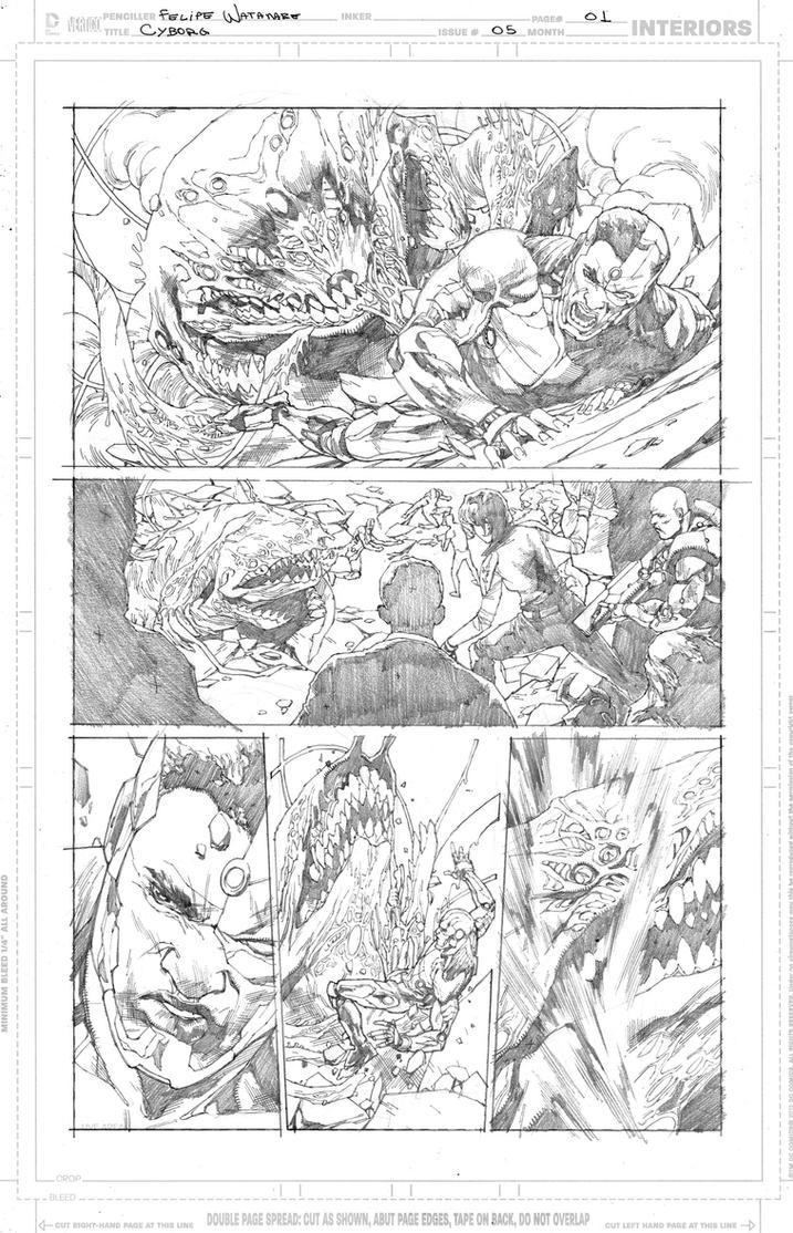 Cyborg #5 - Page 01 by fwatanabe