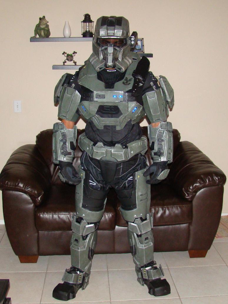 Halo reach foam armor test fitting by Hyperballistik on deviantART