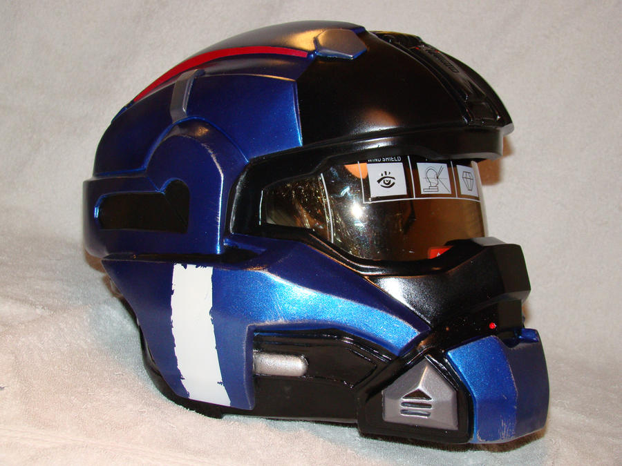 Halo Reach Carter helmet  side view Finished by Hyperballistik