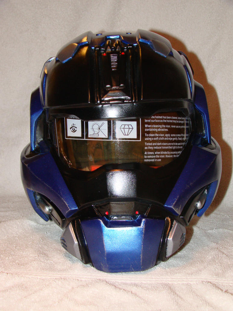 Halo Reach Carter Commando Helmet Front view finis by Hyperballistik