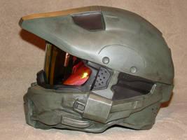 My finished Halo 4 1:1 Master Chief helmet by Hyperballistik