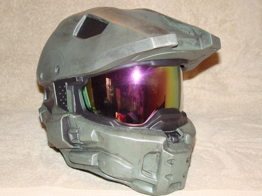 Finished Halo 4 Master Chief Helmet by Hyperballistik