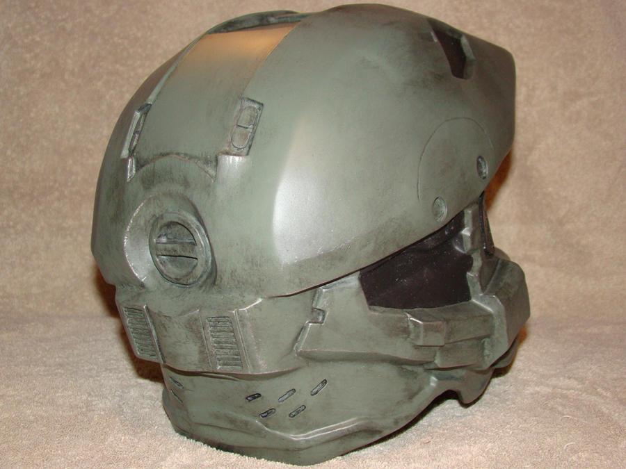 Halo 4 Master CHief hemet Back view by Hyperballistik