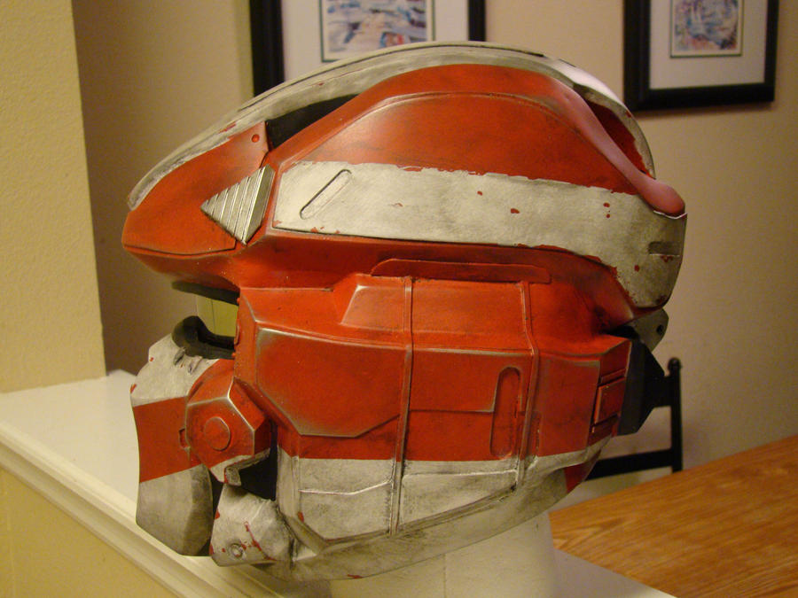 Halo 4 Spartan IV Lifesize helmet (sideview) by Hyperballistik
