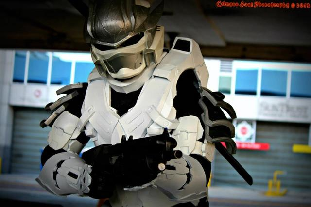 Halo Hayabusa Armor made from Eva Foam by Hyperballistik