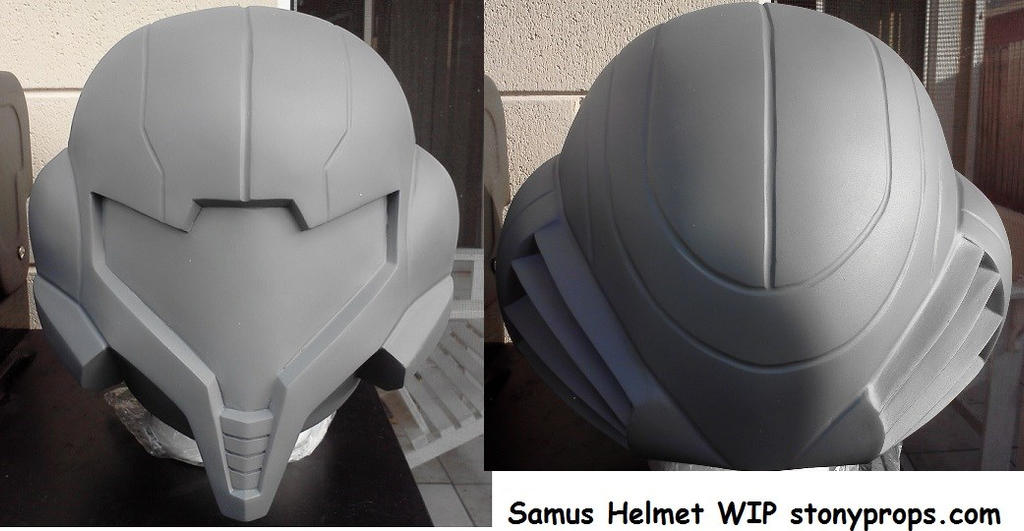 Samus lifesized helmet build by Hyperballistik