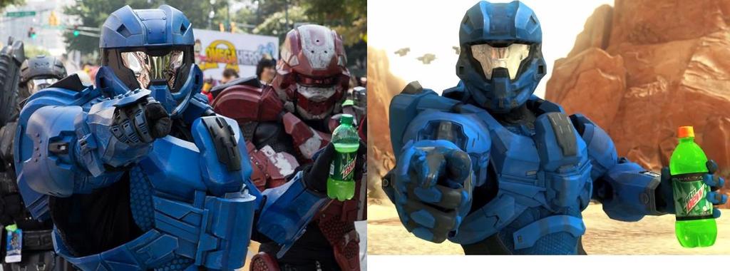 Halo 4 Mountain Dew Spartan Lifesized by Hyperballistik