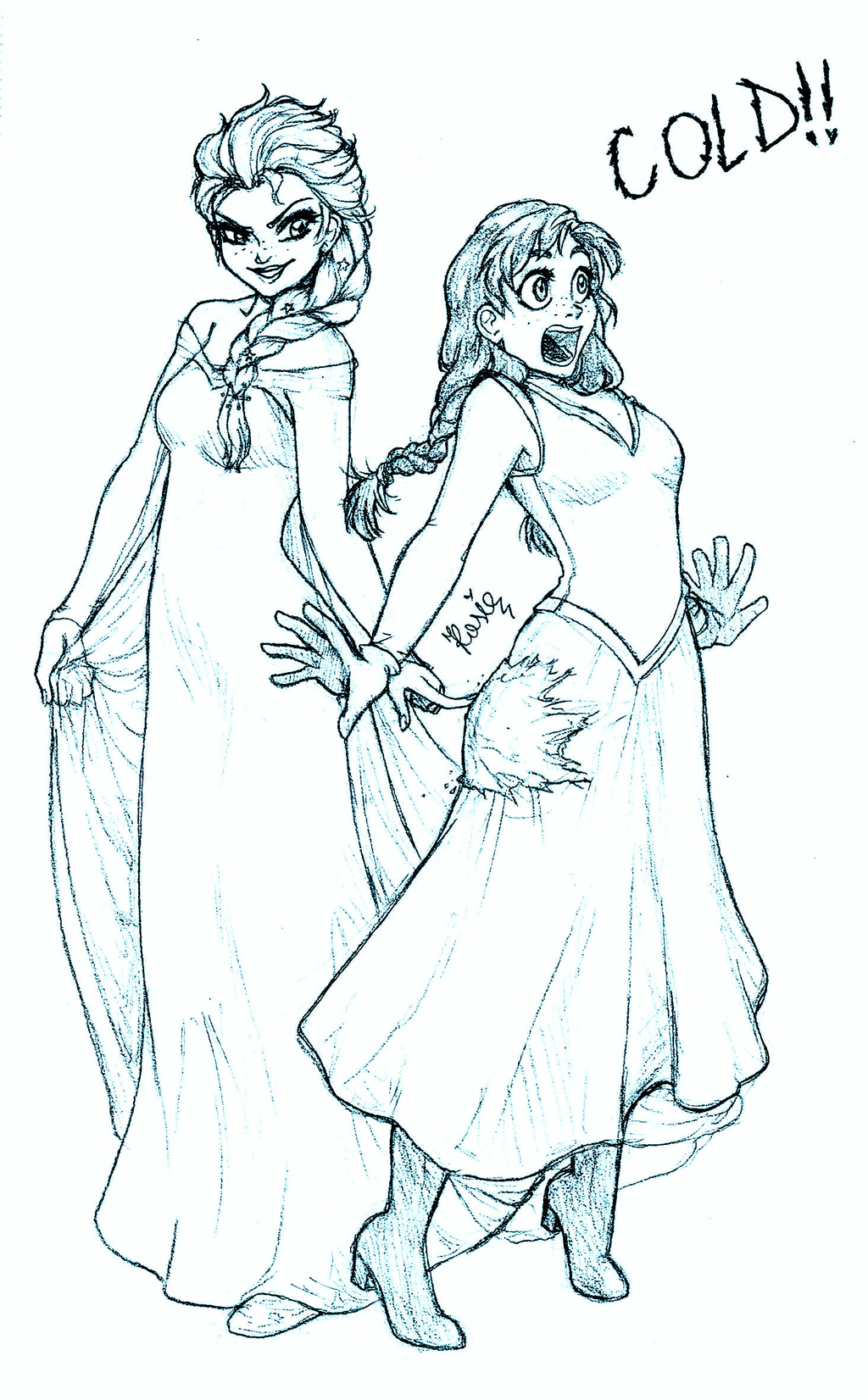 esa sketches frozen anna and sisters - photo #17