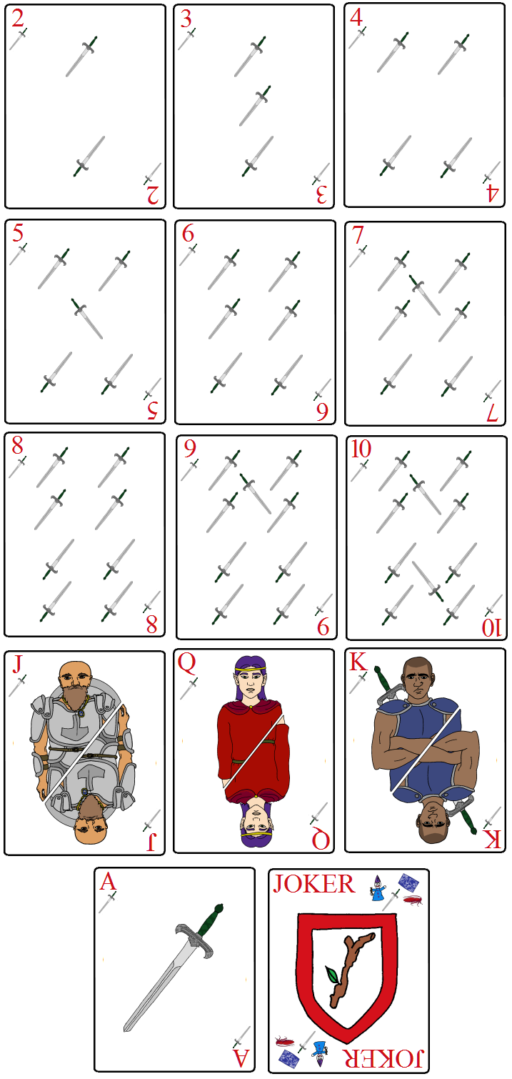 OOTS Cards - Greenhilt Swords by Avistew
