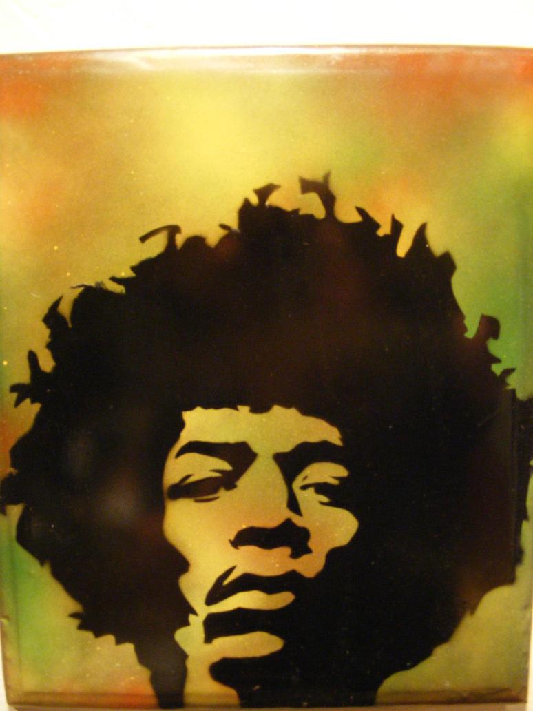 Spray Paint stencil art on wood - Jimi Hendrix by TheStreetCanvas on ...