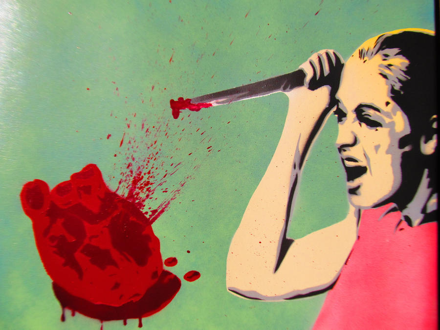 Spray paint stencil art - Love Hurts by TheStreetCanvas on ...
