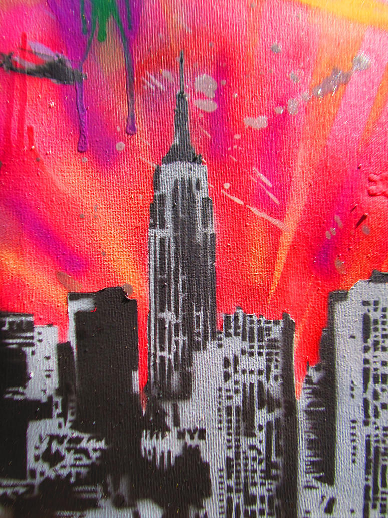 spray paint stencil graffiti art new york city by. Black Bedroom Furniture Sets. Home Design Ideas