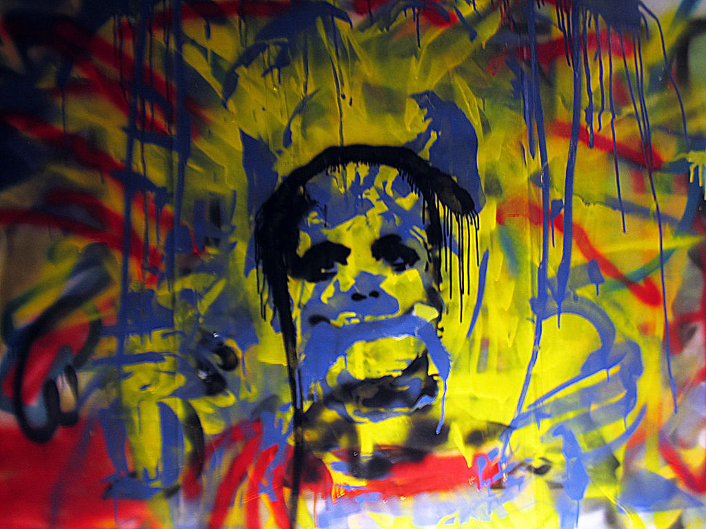 spray paint stencil graffiti wall in my house by thestreetcanvas on. Black Bedroom Furniture Sets. Home Design Ideas