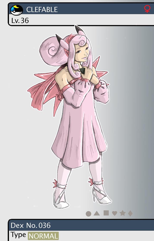 Gijinka Pokemon 036 Clefable 160123066