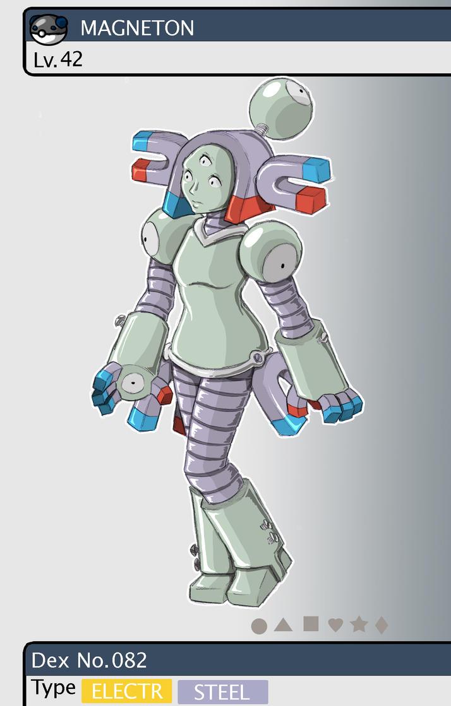 Gijinka Pokemon 082 Magneton 160239093