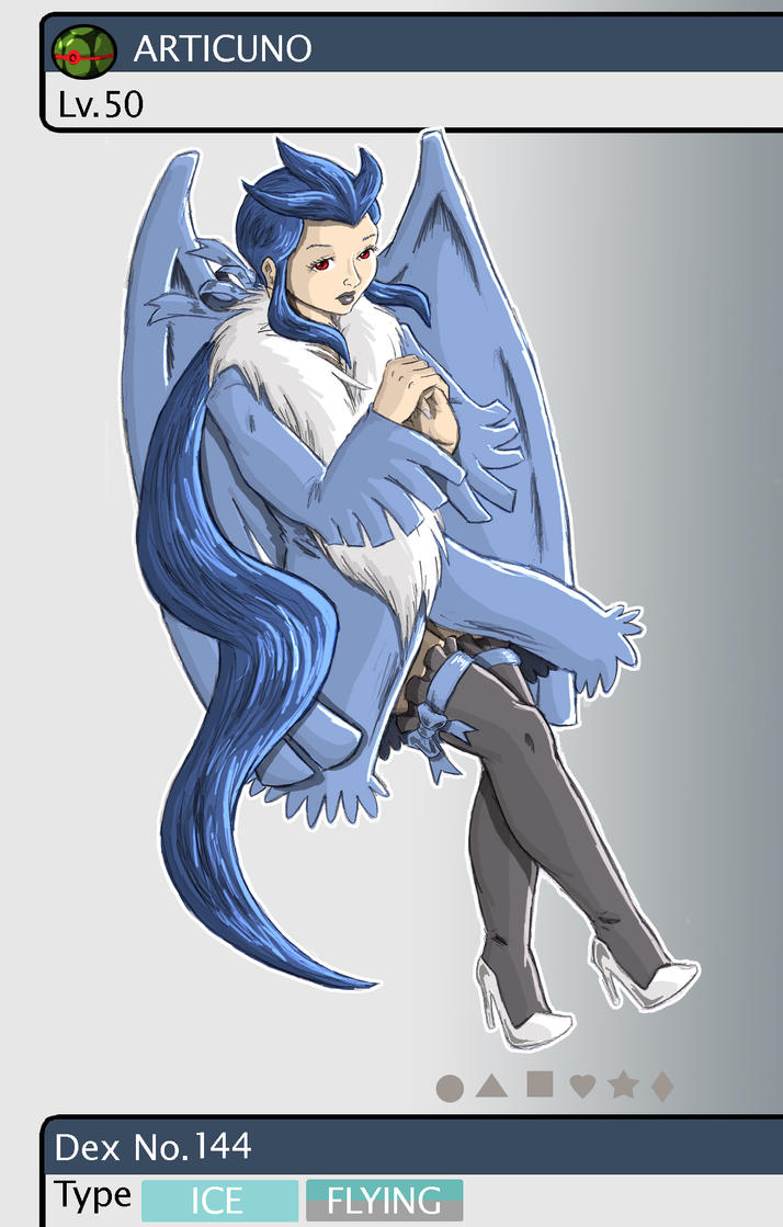 Gijinka Pokemon 144 Articuno by saurodinus on DeviantArt