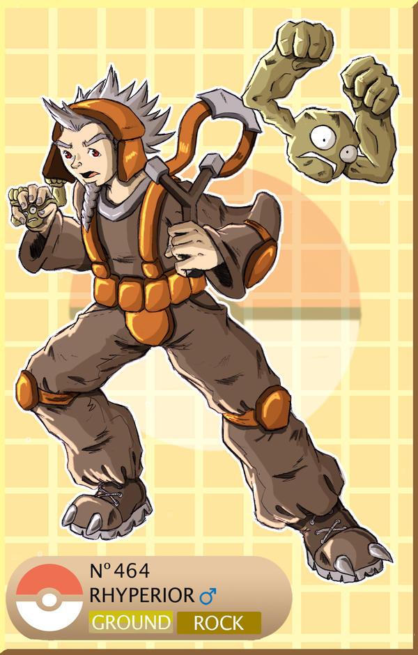 Gijinka Pokemon 464 Rhyperior by saurodinus on DeviantArt