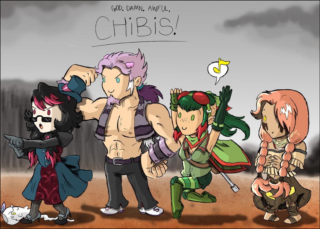 Terrible Chibis: PW Edition by saurodinus