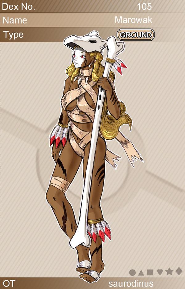 Gijinka Pokemon 105 Marowak By Saurodinus