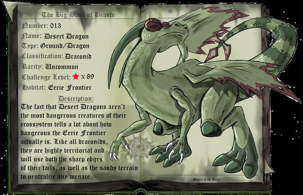 Beast 013: Desert Dragon by saurodinus