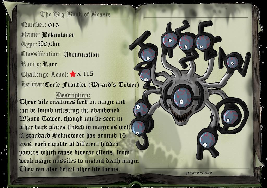 Beast 016: Beknowner by saurodinus