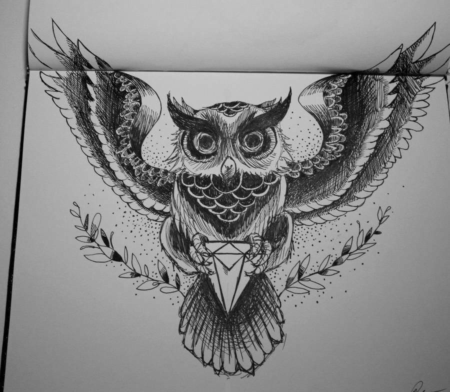 Owl Tattoo Sketches Owl Tattoo by RicARToL...