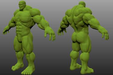 Hulk Zbrush WIP by CyberSpawn2100