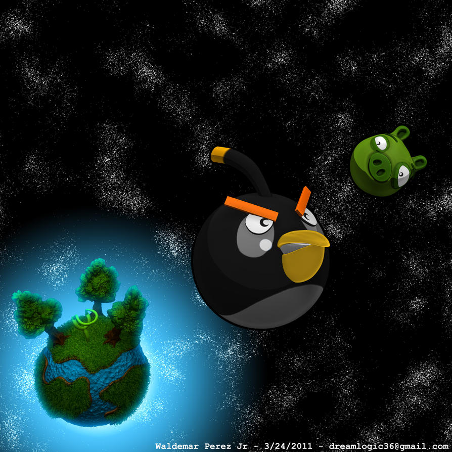 angry birds in space by cyberspawn2100 d3fgasy Download Angry Birds Space Wallpaper for PC, iPhone and Mobiles