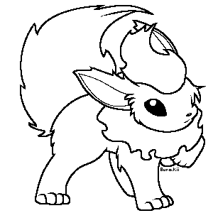 flareon coloring page - flareon by soneko on deviantart