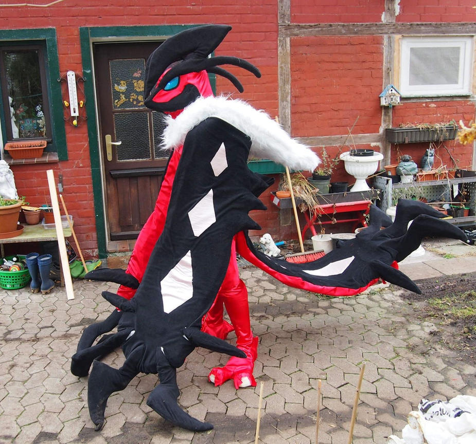 Yveltal Fullsuit WIP Progress by FlameTorchic