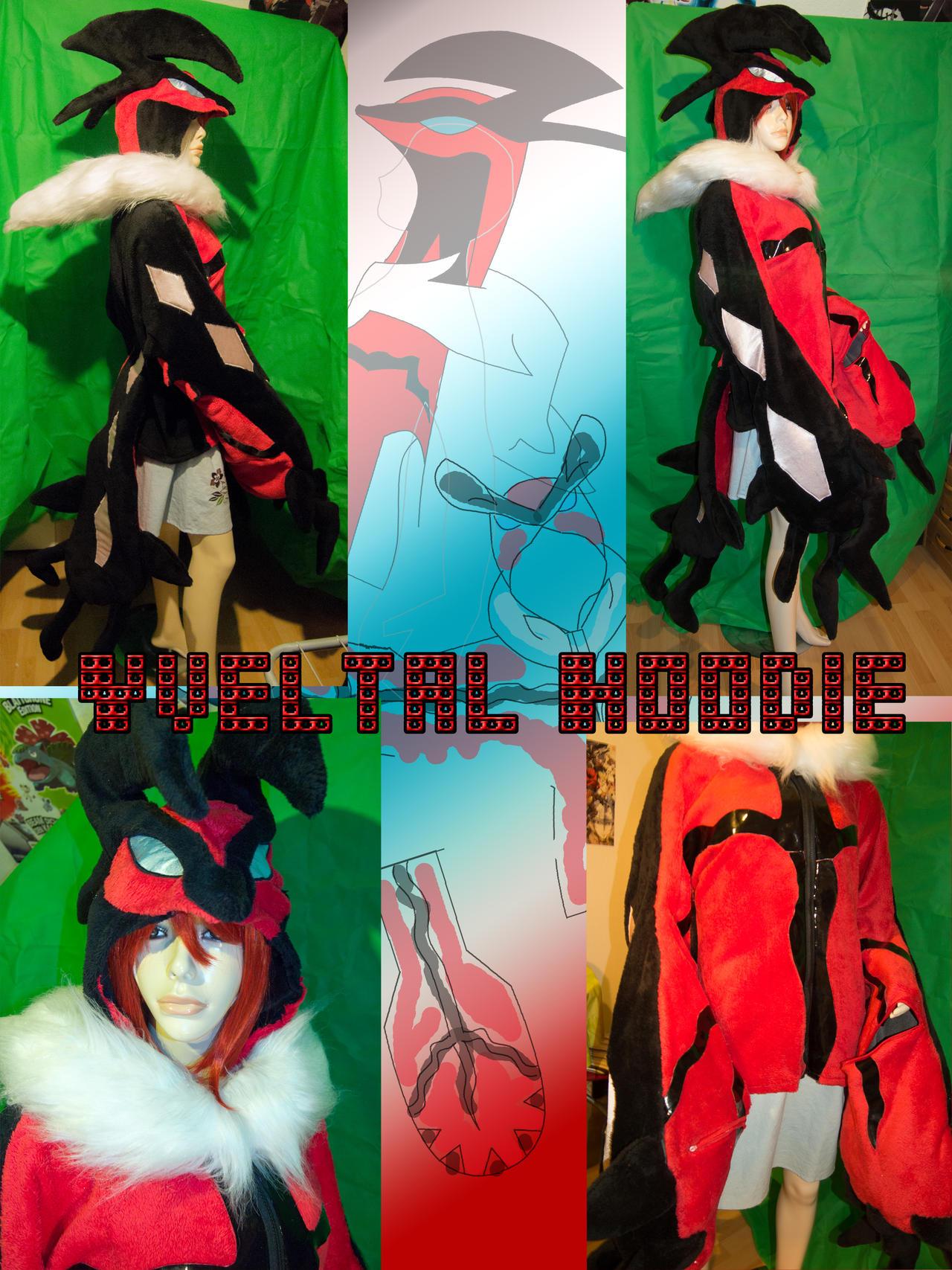 Yveltal Hoodie by FlameTorchic
