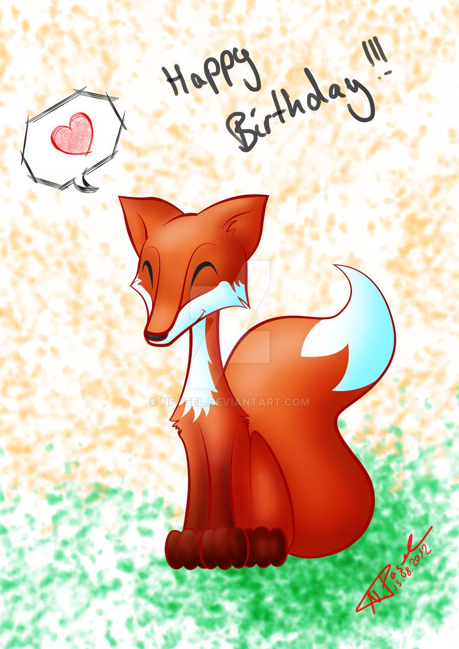 Поздравление с днем рождения для лиса 951