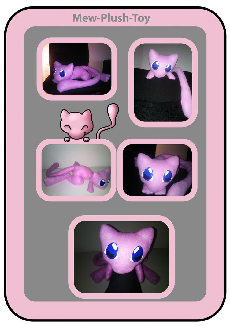 Mew plush (handmade) by nfasel