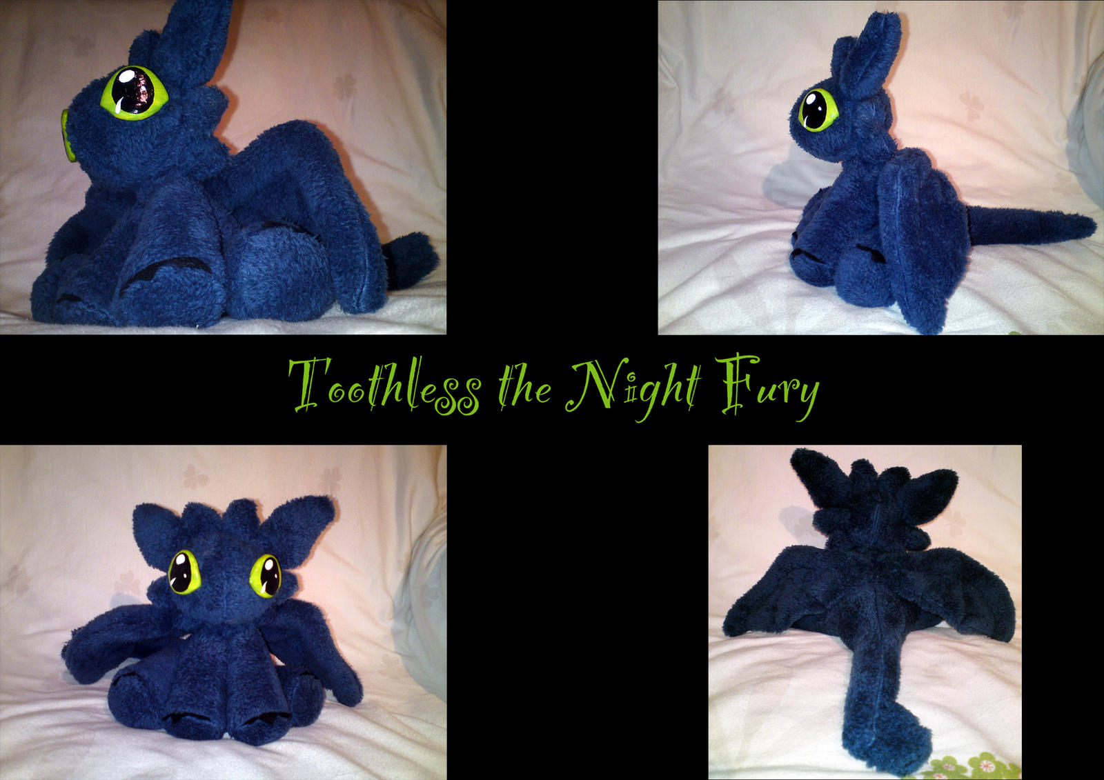 Toothless the night fury - plushie (handmade) by nfasel