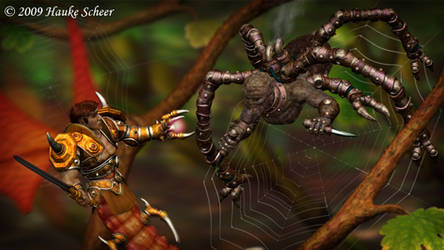 Dragonfairy vs Spiderfairy by hauke3000