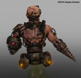 Cyborg Guard Drone by hauke3000