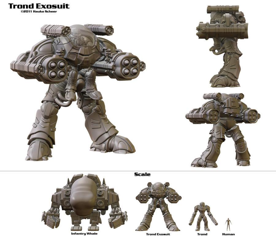 Trond in Battle Suit by hauke3000